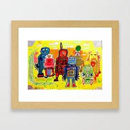 Save The Robots Framed Art Print