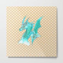 Dragon Blue Metal Print