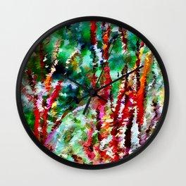 Autumn Grasses Abstract Wall Clock