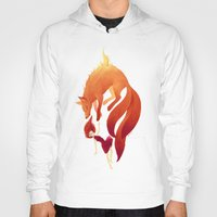 freeminds Hoodies featuring Fire Fox by Freeminds