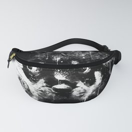 rottweiler puppy dog ws bw Fanny Pack