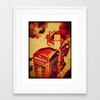 telephone Framed Art Prints featuring Telephone  by Ukridge