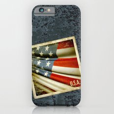 Grunge sticker of United States flag Slim Case iPhone 6s