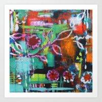 The Secret Garden - Daisy Patch Art Print