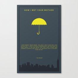 How I Met Your Mother - Yellow Umbrella Canvas Print