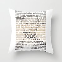lincoln Throw Pillows featuring Lincoln by Sandra T