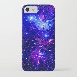 Fox Fur Nebula Galaxy blue purple iPhone Case