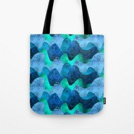 Grunge Sea waves Tote Bag