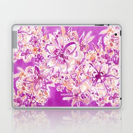 GOOD VIBES Wild Pink Watercolor Floral Laptop & iPad Skin