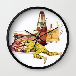 Beer and Sandwich Wall Clock