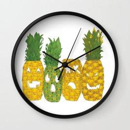Pineapple Jack-O-Lanterns Wall Clock