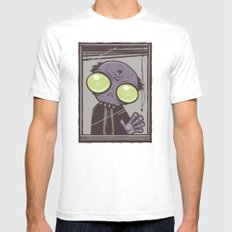 Office Zombie SMALL Mens Fitted Tee White