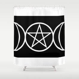 Pentacle#1 Pagan | Goddess | Witchy Shower Curtain