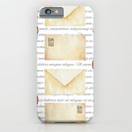 Cute watercolor fairy tales vintage hand drawn illustration pattern iPhone Case