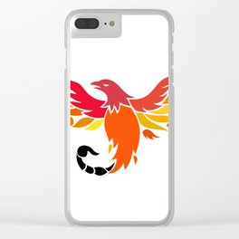 Phoenix With Scorpion Tail Icon Clear iPhone Case