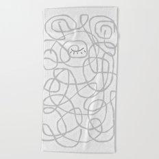winking eye maze Beach Towel
