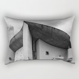 the iconic and dramatic chapel of Notre-Dame du Haut at Ronchamp by Architect Le Corbusier Rectangular Pillow