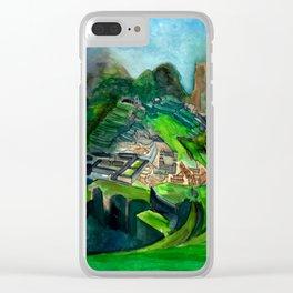 Macchu Picchu Clear iPhone Case