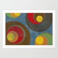 it crowd Art Prints featuring Crowd by Metron