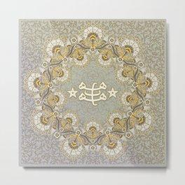 Baha'i ring stone symbol - pastels Metal Print