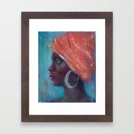 Noble Strength African Woman Framed Art Print