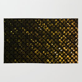 Crystal Bling Strass Gold G321 Rug