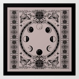 Astrological Moon Phase Magical Witchy  Art Print