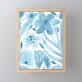 Swept Away Wildflowers Framed Mini Art Print
