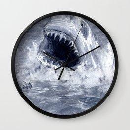 Shark Attacks! ( by Luca Conca for Passenger Press) Wall Clock