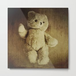 Old Teddy Bear Metal Print