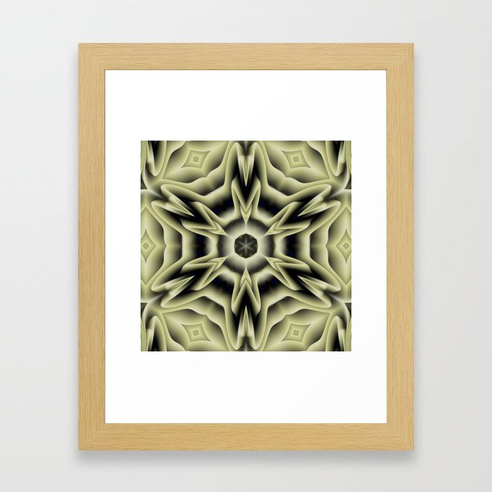 Spikes: abstract digital pattern Framed Art Print