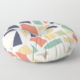 Modern seamless pattern with abstract organic shapes elements, vector illustration Floor Pillow