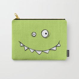 Happy Green Monster Carry-All Pouch