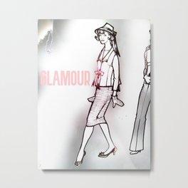 Vintage Fashion Design Metal Print
