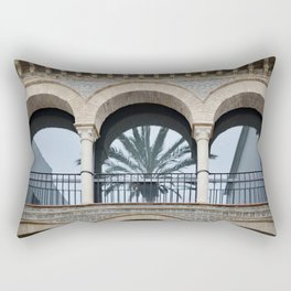 Palm Tree Reflection Rectangular Pillow