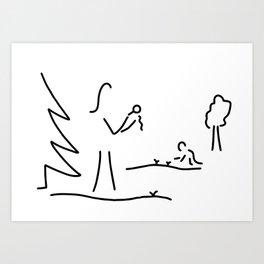 biologist boy scout naturalist Art Print