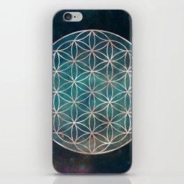 Mandala Flower of Life Rose Gold Space Stars iPhone Skin