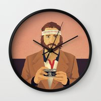 tenenbaums Wall Clocks featuring Richie by Perry Misloski