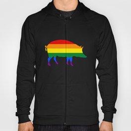 Rainbow Pig Hoody
