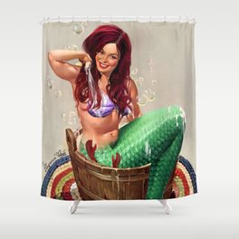 Not So Little Mermaid Ariel Shower Curtain