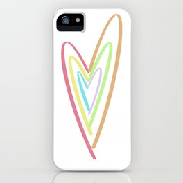 Colorful Heart iPhone Case