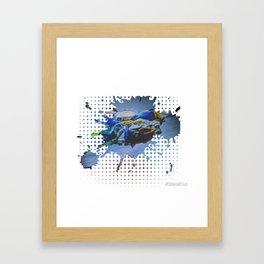 Bluespot Framed Art Print