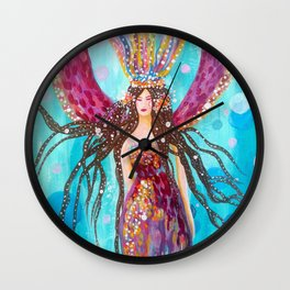 Pisces Moon Wall Clock