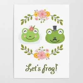 Let's frog! Funny animals couple Poster