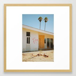 Two Palms Framed Art Print