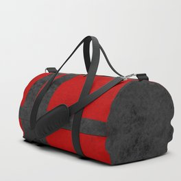 Red suede Duffle Bag