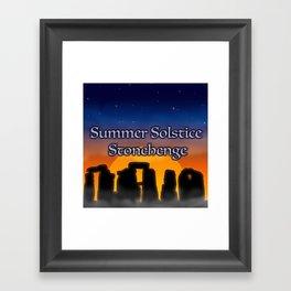 Summer Solstice Stonehenge Framed Art Print