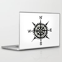 compass Laptop & iPad Skins featuring COMPASS by MrWhite