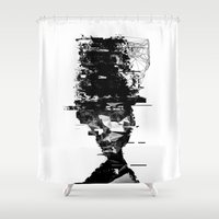 radiohead Shower Curtains featuring when i try to remember  by PandaGunda