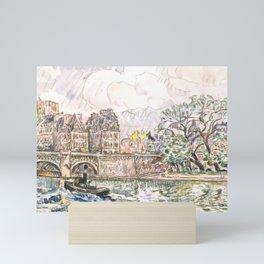 """Paul Signac """"Paris Le Place Dauphine"""" Mini Art Print"""